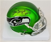 "Steve Largent ""HOF 95"" Signed Seattle Seahawks Blaze Mini Helmet (Schwartz Sports COA)"