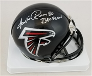 "Andre Rison ""Bad Moon"" Signed Atlanta Falcons Mini Helmet (Schwartz Sports COA)"