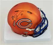 Brian Urlacher Signed Chicago Bears Blaze Mini Helmet (Schwartz Sports COA)