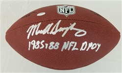 "Mike Singletary ""1985, 88 NFL DPOY"" Signed Wilson NFL Football (Schwartz Sports COA)"