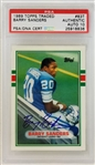 Barry Sanders Signed 1989 Topps Traded #83T Rookie Card - Gem Mint 10 Autograph! (PSA)