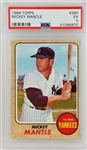 Mickey Mantle Yankees 1968 Topps #280 Card - Graded EX 5 (PSA)