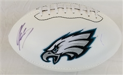 Michael Vick Signed Philadelphia Eagles Logo Football (JSA COA)