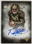 Nick Toon Signed Saints 2012 Topps Inception #116 Rookie Auto Card