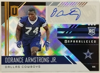Dorance Armstrong Signed 2018 Panini Unparalleled Rookie Card #270