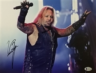 Vince Neil Signed Motley Crue 11x14 Photo (Beckett Witness COA)