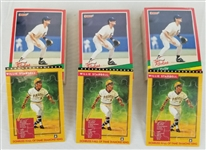 Lot of (3) 1991 Donruss The Rookies Puzzle & Baseball Cards Complete Sets