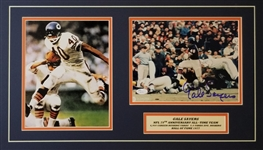 Gale Sayers Signed Chicago Bears 8x10 Photo Matted 14x24 Display (JSA COA)