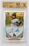 Tyler Kolek Signed Marlins 2014 Bowman Chrome Draft Refractors - Card Graded 9.5 - Signature Graded 10 (BGS)