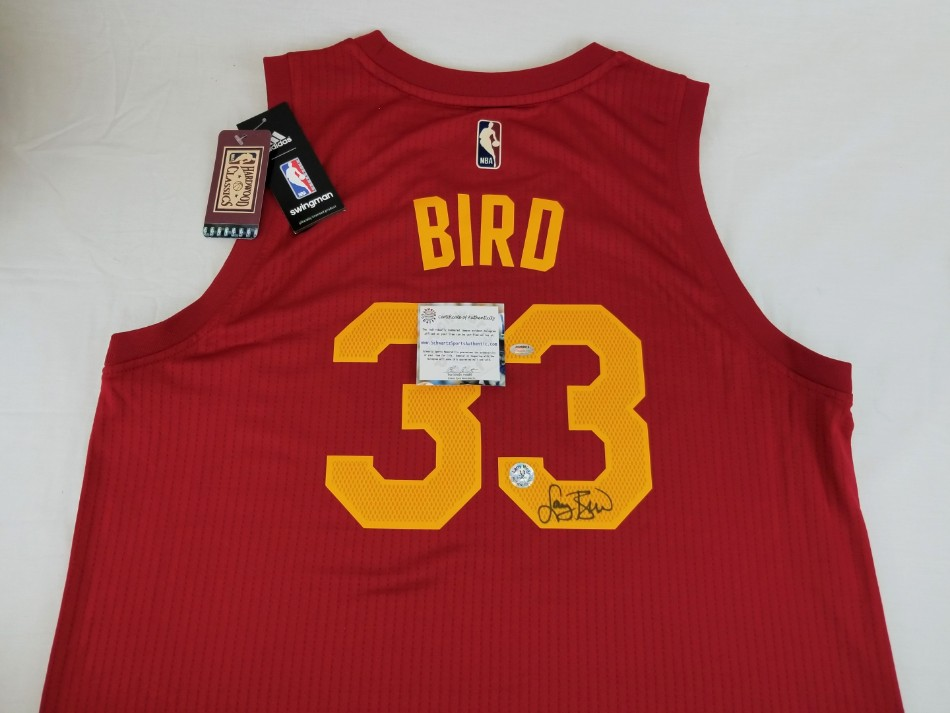 new concept e478d e5c8b Lot Detail - Larry Bird Signed Hickory High Hoosiers/Indiana ...