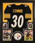 James Conner Signed Pittsburgh Steelers Custom Jersey Framed Display (JSA COA)