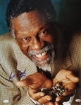 Bill Russell Signed Boston Celtics 16x20 Photo with His 11 Rings (JSA COA)