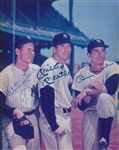 Mickey Mantle, Billy Martin & Whitey Ford Signed New York Yankees 8x10 Photo (JSA LOA)