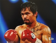 "Manny Pacquiao ""Pacman"" Signed Boxing 11x14 Photo (Beckett COA)"