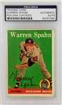 Warren Spahn Braves Signed 1958 Topps #270 Card (PSA/DNA)
