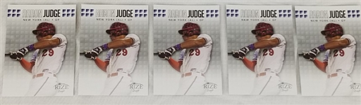 Lot of (5) Aaron Judge 2013 Leaf Rize Draft #36 Baseball Cards
