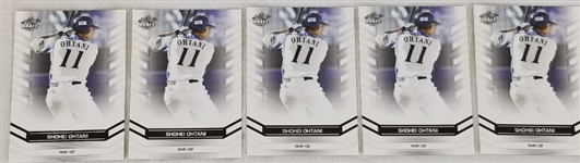 Lot of (5) Shohei Ohtani 2016 Leaf Draft #DY-01 Baseball Cards