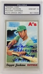 Reggie Jackson Signed As 1970 Topps #140 Card w/ 3 Inscriptions - Autograph Graded Gem Mint 10! (PSA/DNA)