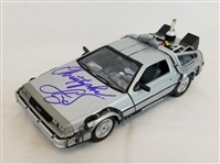 Christopher Lloyd Signed Back To The Future Delorean Time Machine 1:24 Diecast Car w/ Box (Beckett Witness COA)