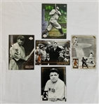 Lot of (5) Babe Ruth Baseball Cards