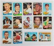 Lot of (14) 1965 Topps Baseball Cards