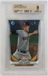 Josh Hader Astros 2014 Bowman Chrome Prospects #BCP69 Rookie Card - Graded Mint 9 (BGS)