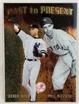 Derek Jeter & Phil Rizzuto 2001 Topps Chrome Yankees Past to Present Baseball Card #PTP1