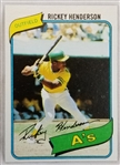 Rickey Henderson As 1980 Topps #482 Rookie Card
