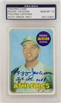 "Reggie Jackson ""2x WS MVP"" Signed 1969 Topps #260 Rookie Card - Auto Graded Gem Mint 10! (PSA/DNA Encapsulated)"