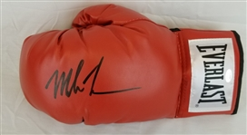 Mike Tyson Signed Red Everlast Left Hand Boxing Glove (Schwartz Sports COA)