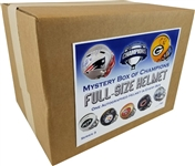 #17 of 50 - Autographed Full Size Helmet Mystery Box - Series 3 - Brady/Gronk Dual, Aaron Rodgers Proline & More!