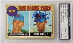 "Nolan Ryan ""HOF 99"" Signed 1968 Topps #177 Rookie Card - Auto Graded Gem Mint 10! (PSA/DNA Encapsulated)"