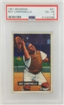Roy Campanella 1951 Bowman #31 Card - Graded VG-EX 4 (PSA/DNA)