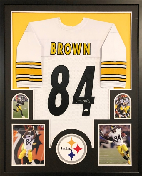 822b67dde Antonio Brown Signed Pittsburgh Steelers Custom Jersey Framed Display (JSA  Witness COA)