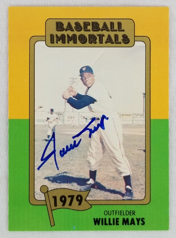 Lot Detail Willie Mays Signed 1979 Baseball Immortals 168
