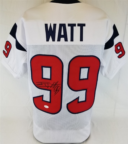 best sneakers 18fec 0ac2b Lot Detail - J.J. Watt Signed Houston Texans Custom Jersey ...