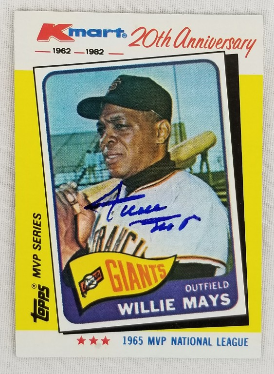 Lot Detail Willie Mays Signed Giants 1982 Topps 20th Anniversary