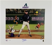 "Randy Johnson Signed ""The Big Unit"" Lmt Ed. 19x22 Warner Bros. Lithograph (JSA COA)"