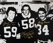 Jack Lambert, Jack Ham & Andy Russell Signed Steelers 16x20 Photo (JSA COA)
