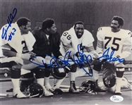 Joe Greene, L.C. Greenwood, Ernie Holmes & Dwight White Signed Steel Curtain 8x10 Photo (JSA COA)