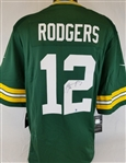 Aaron Rodgers Signed Green Bay Packers On Field Nike Game Replica Jersey (Steiner COA)