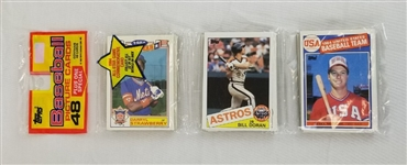 1985 Topps Baseball Rack Pack w/ Mark McGwire Rookie On Top