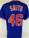 Lee Smith Signed Chicago Cubs Custom Jersey (JSA Witness COA)