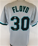 Cliff Floyd Signed Florida Marlins Custom Jersey (PSA/DNA COA)