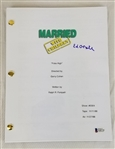 "Ed ONeil Signed ""Poke High"" Episode Married with Children TV Script (Beckett COA)"