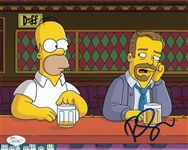 Ricky Gervais Signed The Simpsons 8x10 Photo w/ Homer (JSA COA)