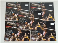 Lot of (5) Hassan Whiteside Signed Miami Heat 8x10 Photos (Hollywood Collectibles COAs)