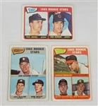 Lot of (3) 1965 Topps Rookie Stars #386, #553 & #577 Cards