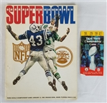 Super Bowl III Official Game Program & Ticket - New York Jets vs. Baltimore Colts