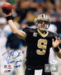 "Drew Brees ""5069 Yards 2008"" Signed New Orleans Saints 8x10 Photo (JSA COA)"